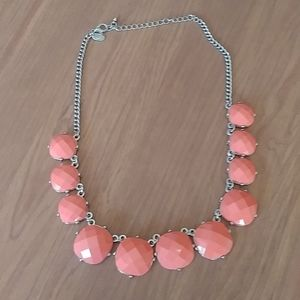 Coral color charming charlie necklace